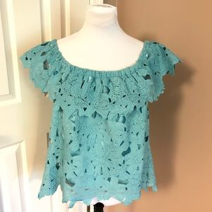 Umgee l On Off Shoulder Lined Lace Top